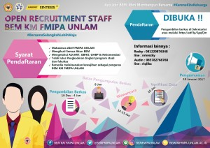 Open Recruitment 2017