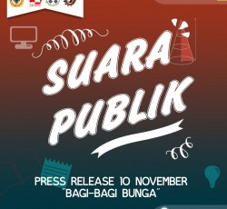Suara Publik : Press Release 10 November